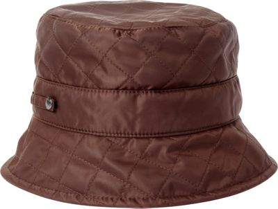 Betmar New York Quilted Bucket One Size - Chocolate - Betmar New York Hats/Gloves/Scarves