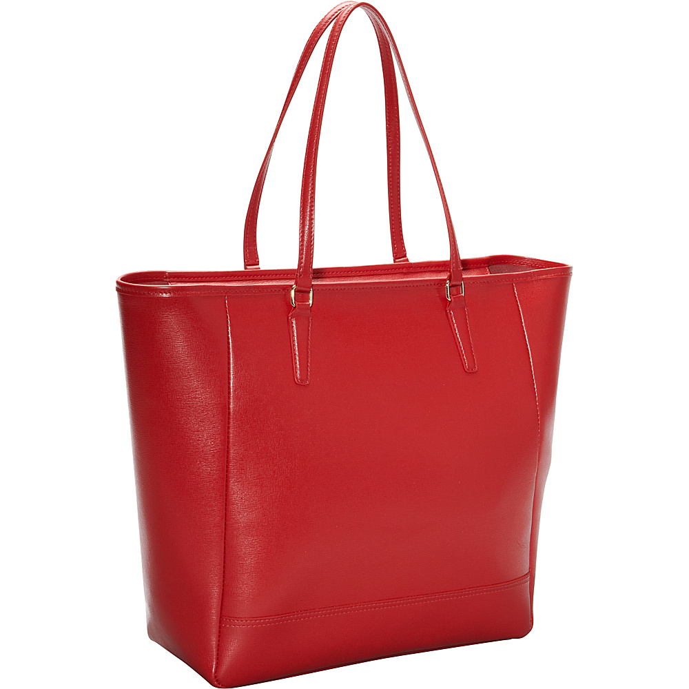 Royce Leather Hailey Saffiano Tote Red - Royce Leather Leather Handbags - Handbags, Leather Handbags