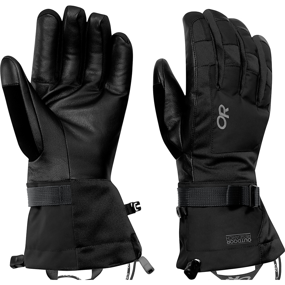 Outdoor Research Revolution Gloves Mens L - Black - Outdoor Research Hats/Gloves/Scarves - Fashion Accessories, Hats/Gloves/Scarves