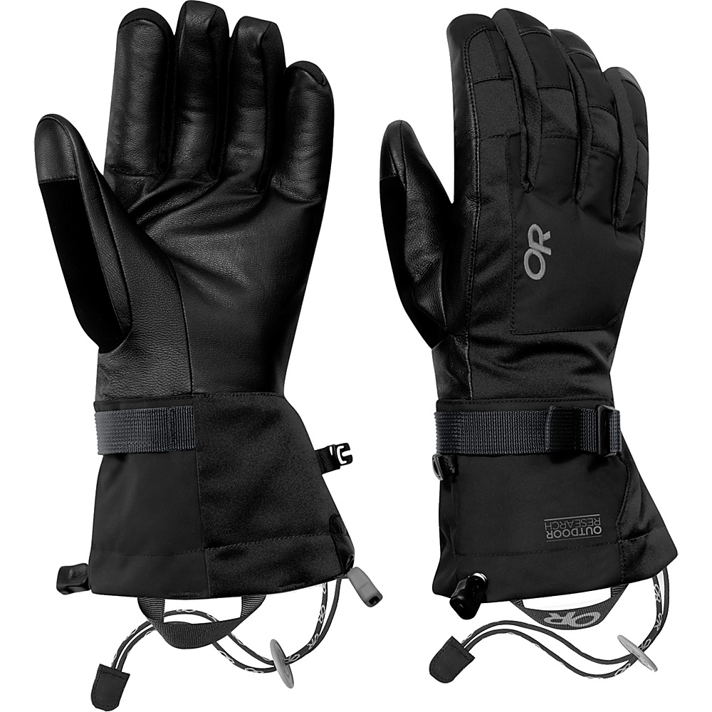 Outdoor Research Revolution Gloves Mens S - Black - Outdoor Research Hats/Gloves/Scarves - Fashion Accessories, Hats/Gloves/Scarves