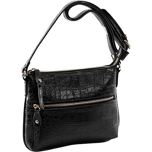 Parinda Ashen Black Croco - Parinda Manmade Handbags