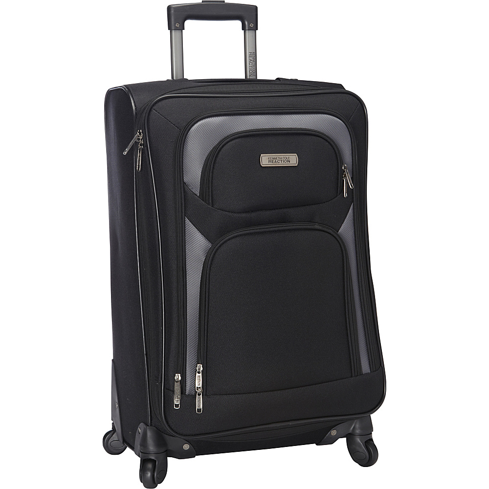 "Kenneth Cole Reaction The Journey Continues Lightweight 24"" 4 Wheel Expandable Upright Black - Kenneth Cole Reaction Softside Checked"