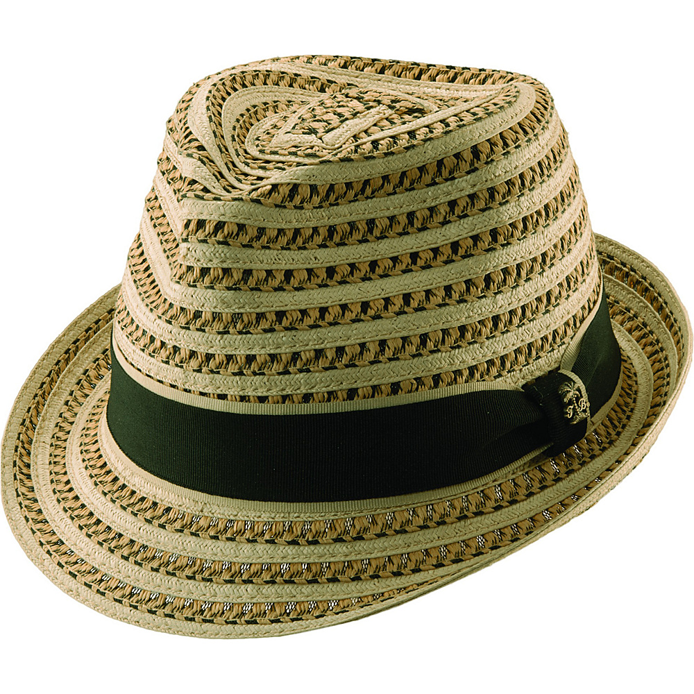 Tommy Bahama Headwear Deluxe Paper Brd Fedora XL - Natural - Tommy Bahama Headwear Hats/Gloves/Scarves