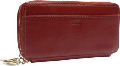 TUSK LTD Madison Checkbook Clutch Red - TUSK LTD Women's Wallets