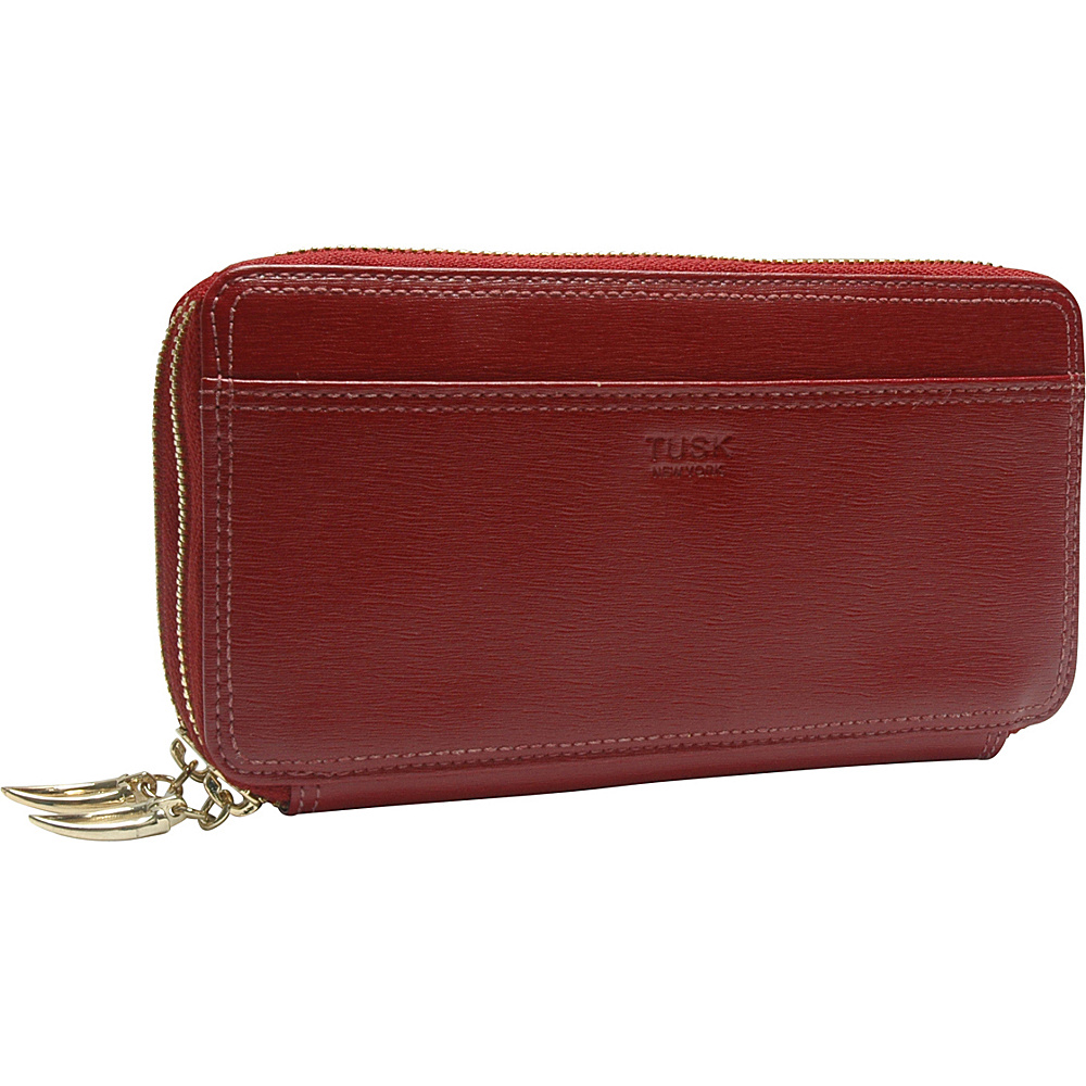 TUSK LTD Madison Checkbook Clutch Red TUSK LTD Women s Wallets
