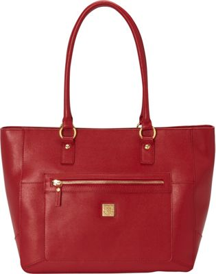 Piazza Madeline Tote Red - Piazza Leather Handbags