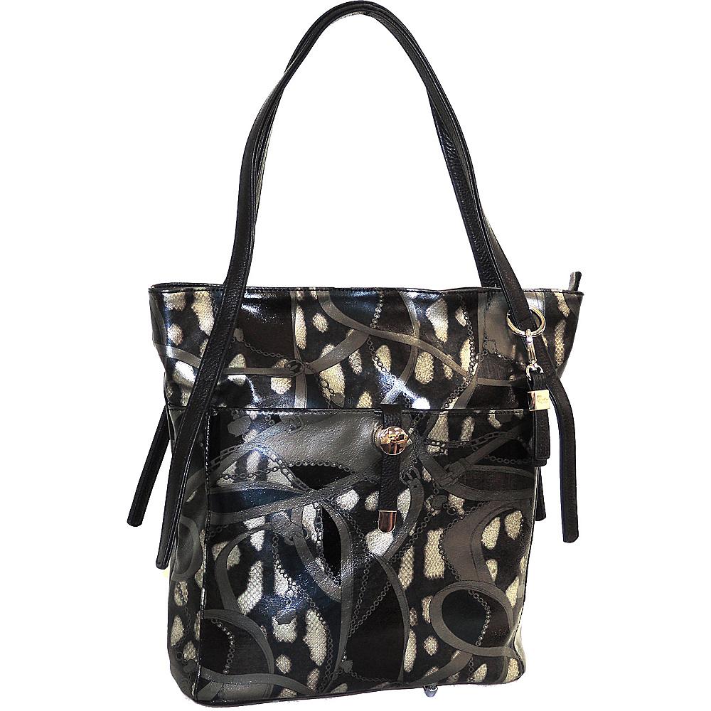 Buxton Caitlin Tote Black-Multi - Buxton Leather Handbags - Handbags, Leather Handbags