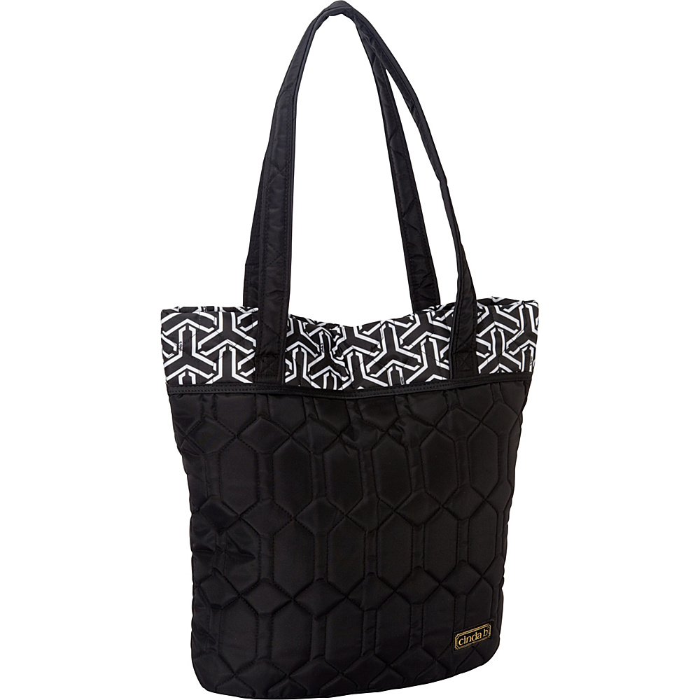 cinda b Essentials Tote Jet Set Black - cinda b Fabric Handbags