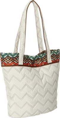 cinda b Essentials Tote Ravinia Ivory - cinda b Fabric Handbags