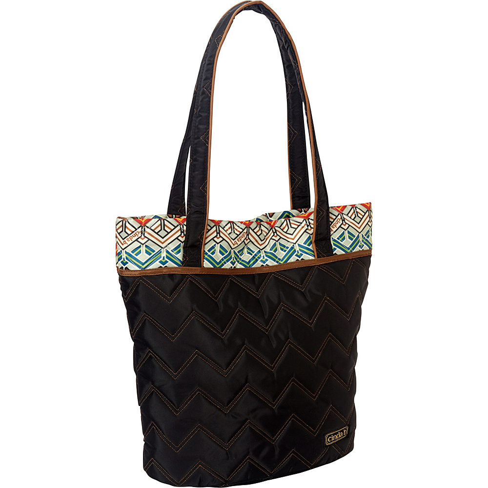 cinda b Essentials Tote Ravinia Black cinda b Fabric Handbags