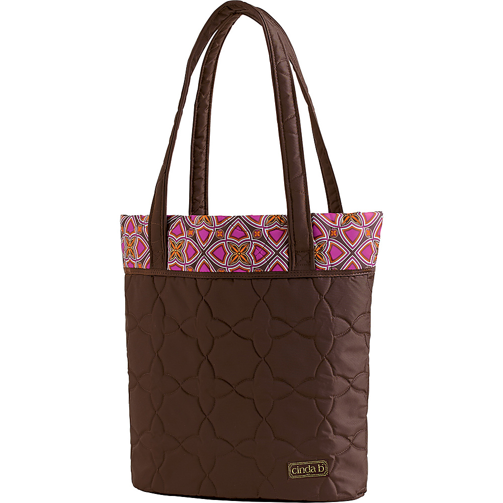 cinda b Essentials Tote Stained Glass cinda b Fabric Handbags