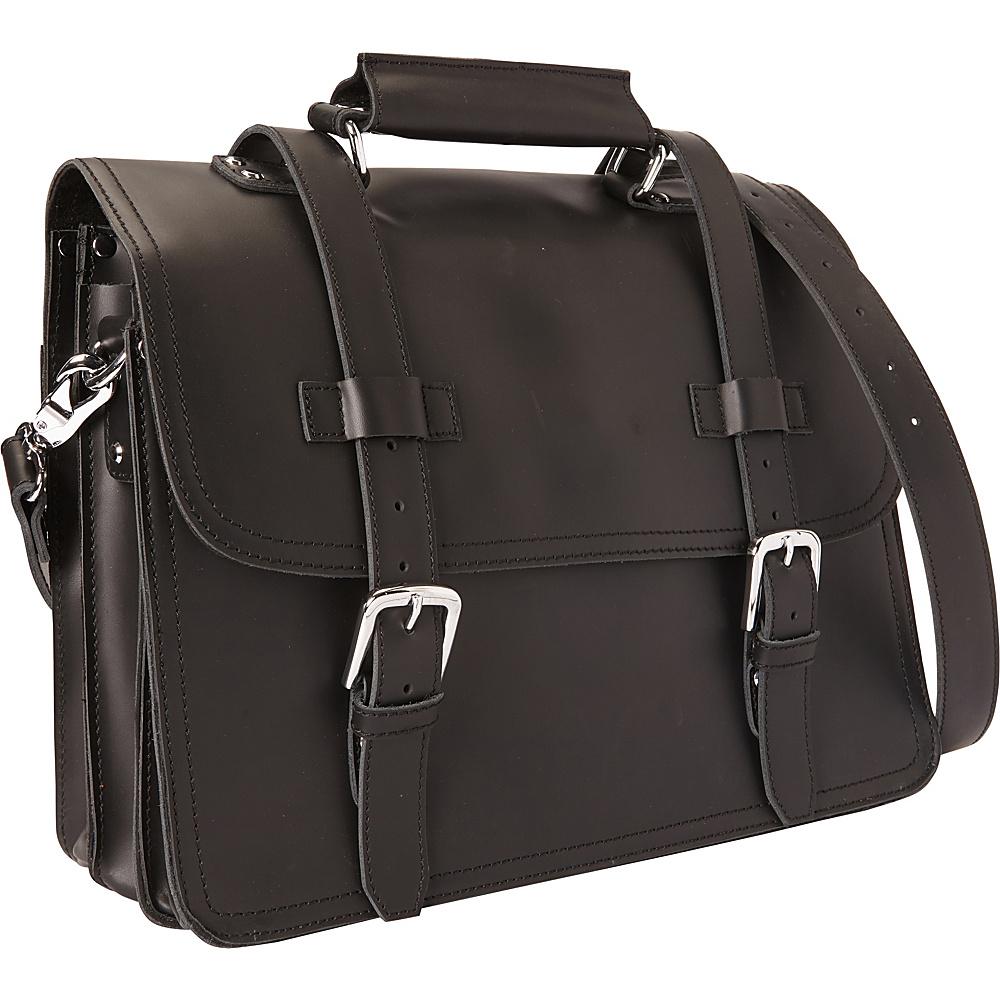Vagabond Traveler 16 3-tier Pro Leather Briefcase Laptop Case Black - Vagabond Traveler Non-Wheeled Business Cases - Work Bags & Briefcases, Non-Wheeled Business Cases