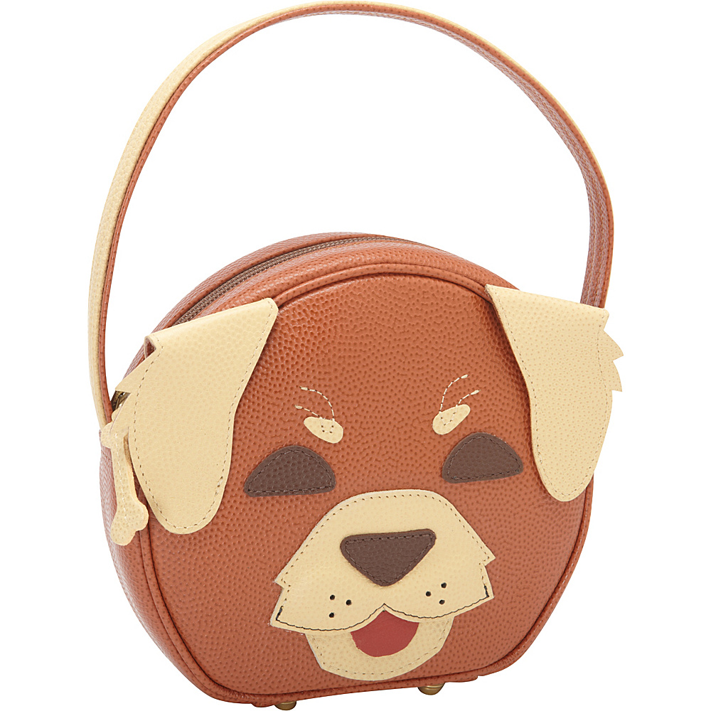 J.P. Ourse & Cie. Pet Face Day Bag Spice/Beige Doggie - J.P. Ourse & Cie. Leather Handbags