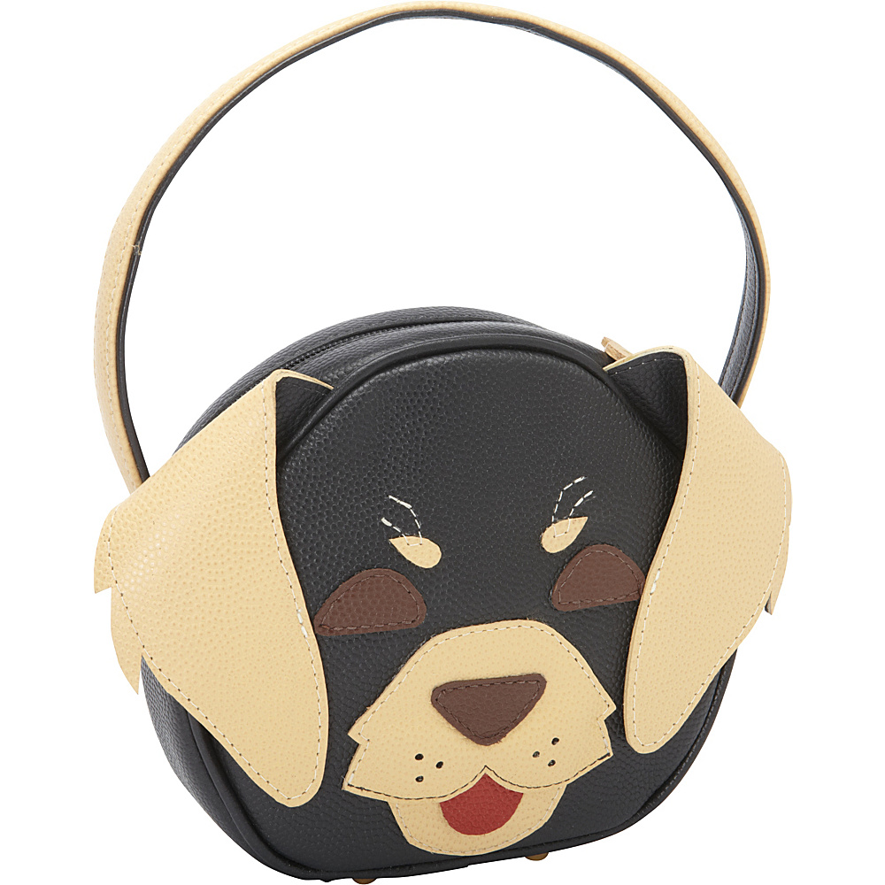 J.P. Ourse & Cie. Pet Face Day Bag Black/Beige Doggie - J.P. Ourse & Cie. Leather Handbags