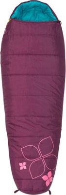 Kelty Little Flower 20 Degree Sleeping Bag -  Short Right-Hand Purple Potion - Kelty Outdoor Accessories