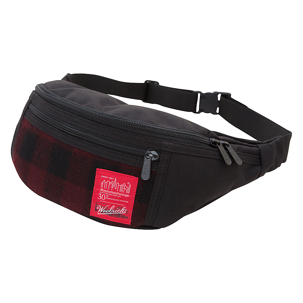 Manhattan Portage X Woolrich Alleycat WaistBag Buffalo Check Red/Black - Manhattan Portage Waist Packs - Backpacks, Waist Packs