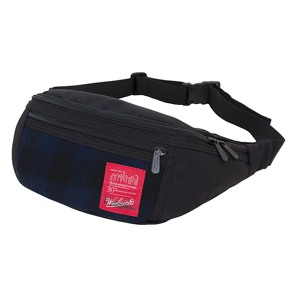 Manhattan Portage X Woolrich Alleycat WaistBag Buffalo Check Navy/Black - Manhattan Portage Waist Packs - Backpacks, Waist Packs