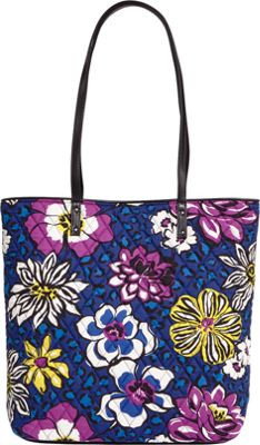 Vera Bradley Day Tote African Violets - Vera Bradley Fabric Handbags
