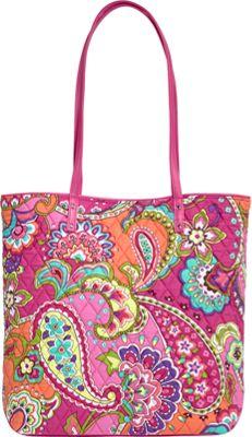 Vera Bradley Day Tote Pink Swirls - Vera Bradley Fabric Handbags