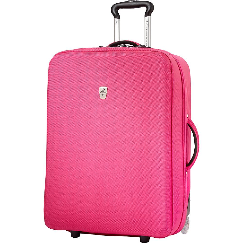 "Atlantic Debut 25"" Upright Luggage Pink - Atlantic Softside Checked"
