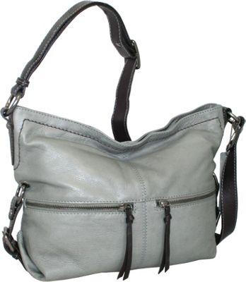 Nino Bossi Top Zip Hobo Stone - Nino Bossi Leather Handbags