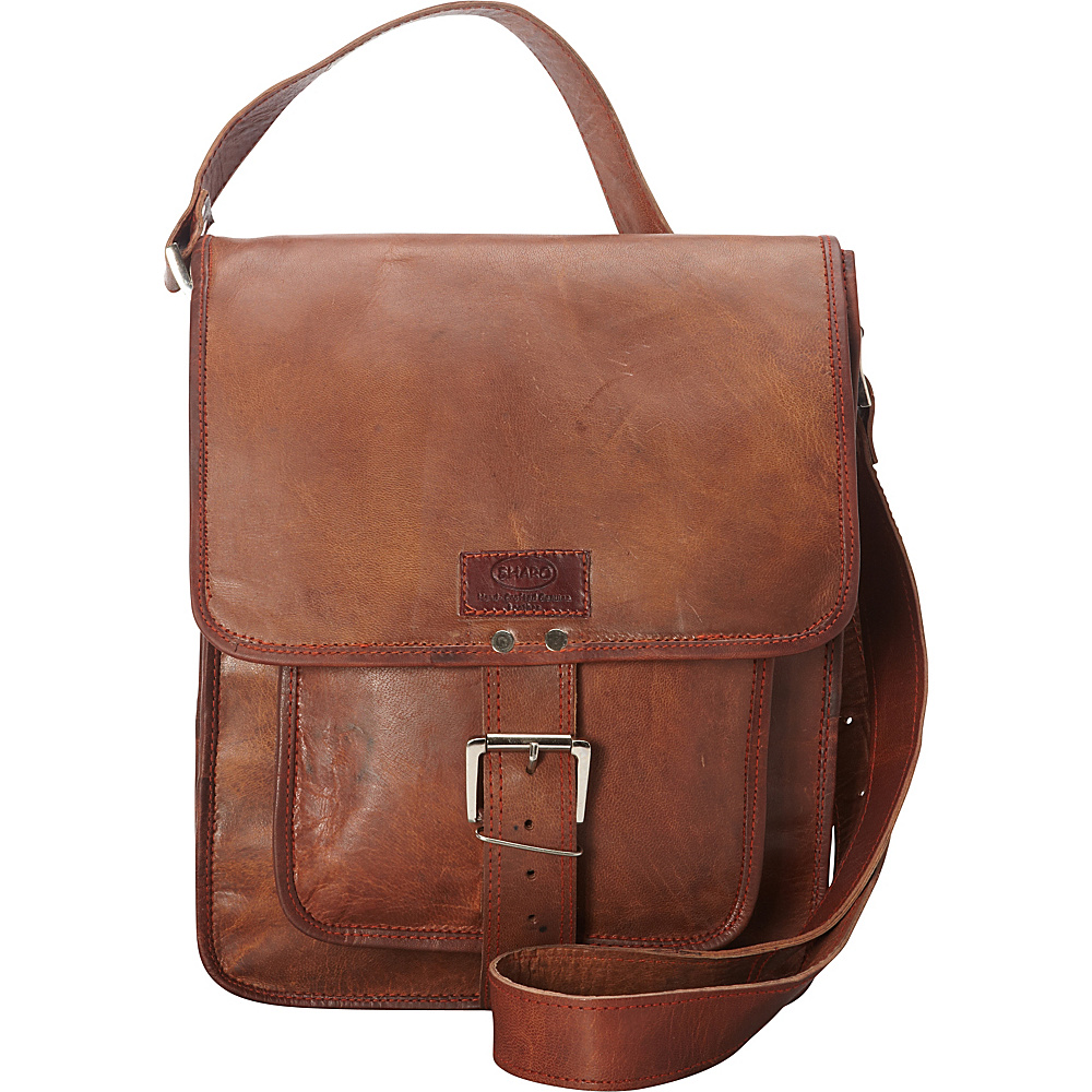 Sharo Leather Bags Retro One Strap Close Messenger Bag Brown Sharo Leather Bags Leather Handbags