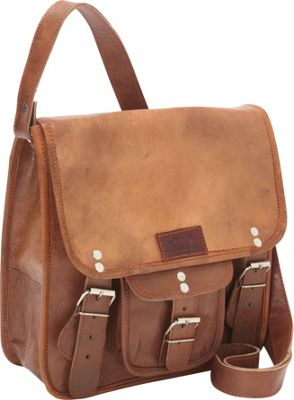 Sharo Leather Bags Small Cross Body Messenger Bag Brown - Sharo Leather Bags Leather Handbags