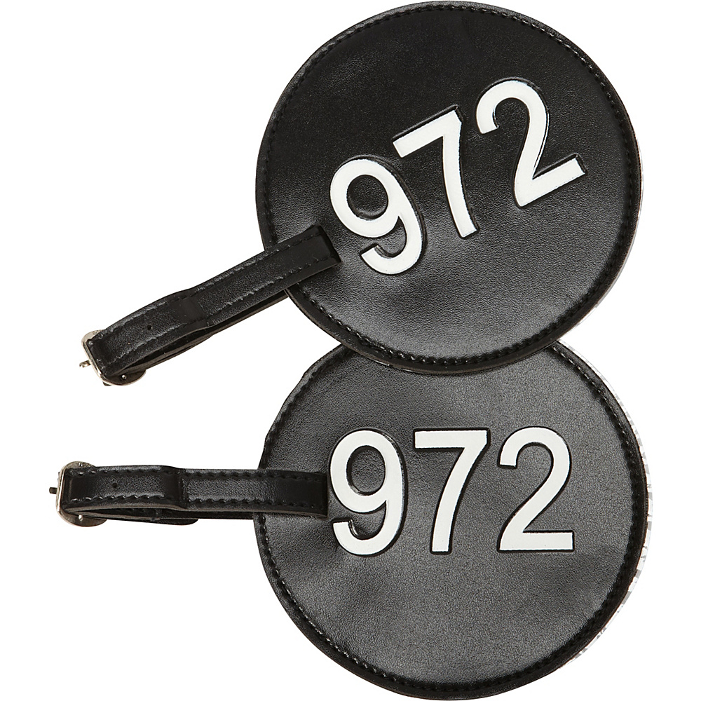pb travel Number Luggage Tag 972 Set of 2 Black pb travel Luggage Accessories