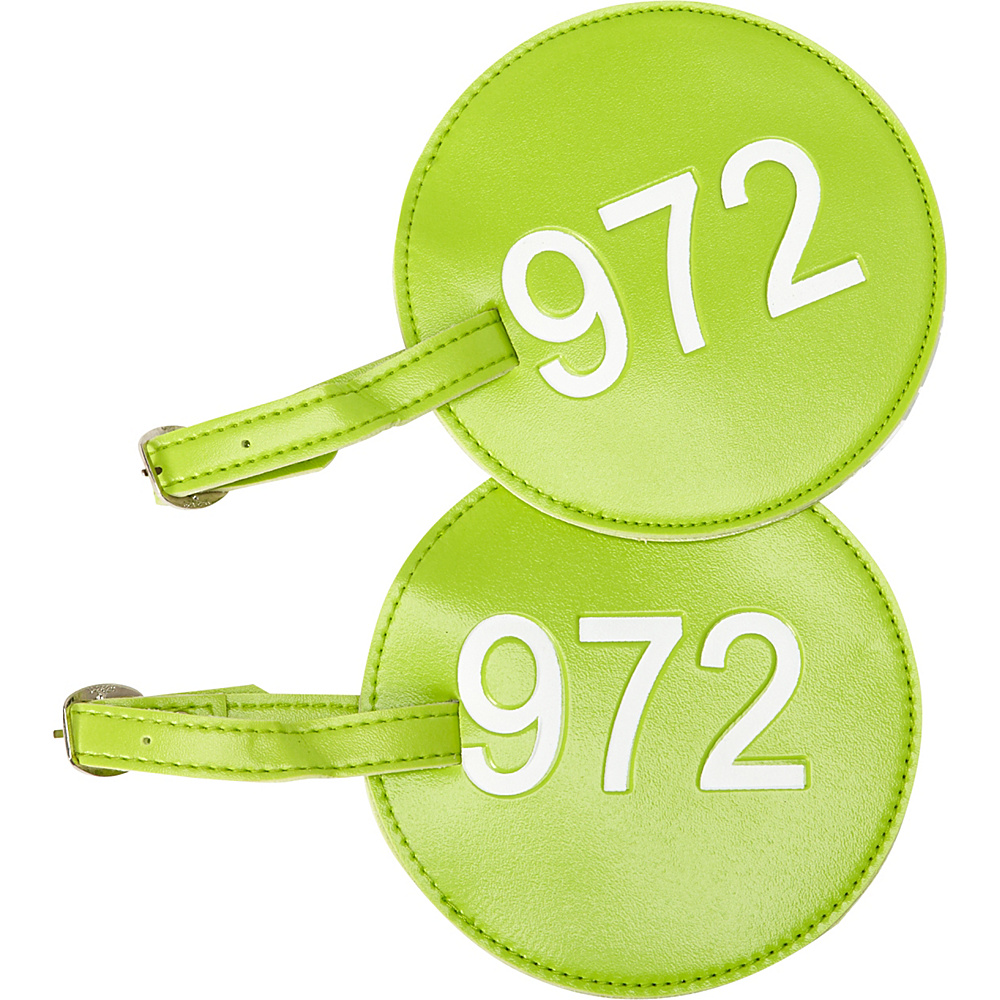 pb travel Number Luggage Tag 972 Set of 2 Green pb travel Luggage Accessories