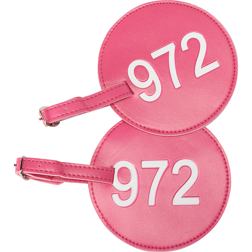 pb travel Number Luggage Tag 972 Set of 2 Fuchsia pb travel Luggage Accessories