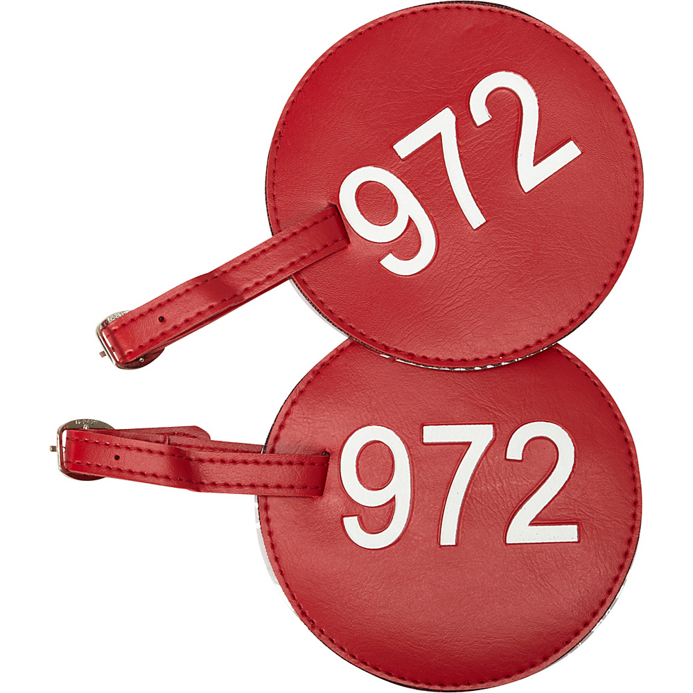 pb travel Number Luggage Tag 972 Set of 2 Red pb travel Luggage Accessories