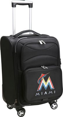 Denco Sports Luggage MLB 20 inch Domestic Carry-On Spinner Miami Marlins - Denco Sports Luggage Softside Carry-On