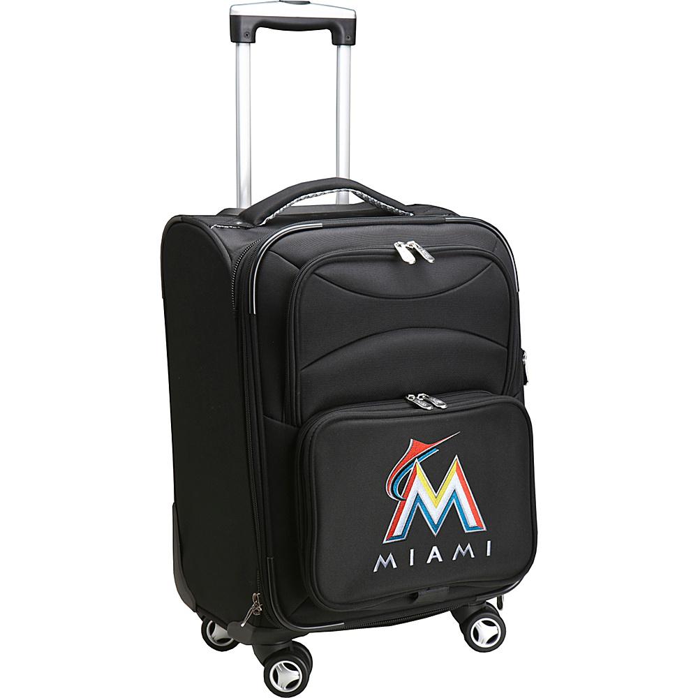 Denco Sports Luggage MLB 20 Domestic Carry-On Spinner Miami Marlins - Denco Sports Luggage Softside Carry-On - Luggage, Softside Carry-On