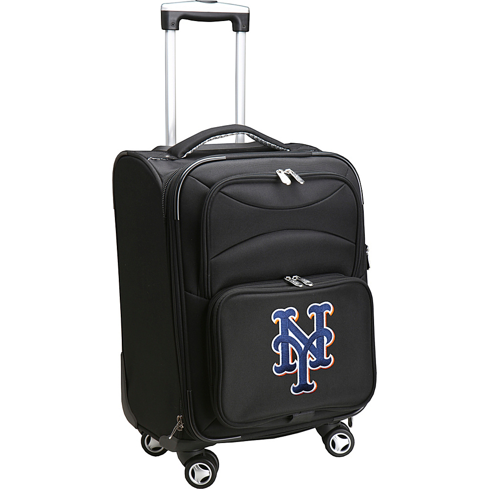 Denco Sports Luggage MLB 20 Domestic Carry-On Spinner New York Mets - Denco Sports Luggage Softside Carry-On - Luggage, Softside Carry-On