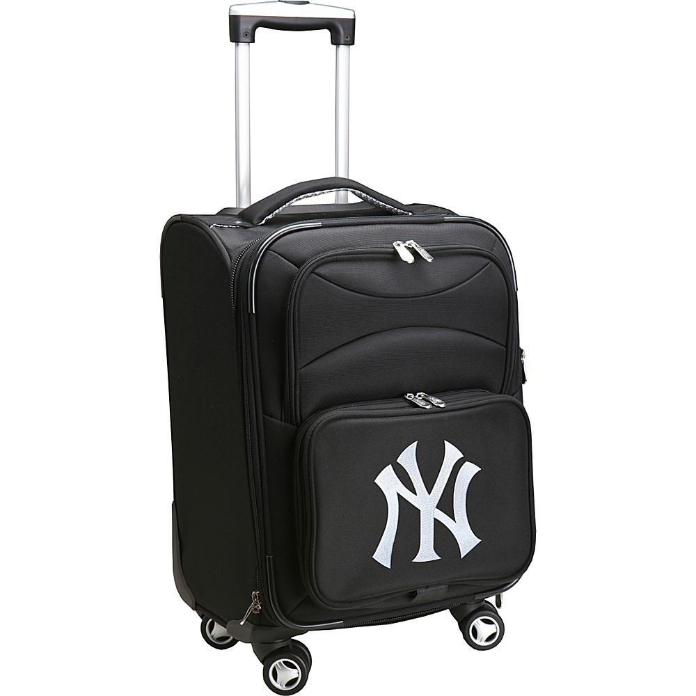 Denco Sports Luggage MLB 20 Domestic Carry-On Spinner New York Yankees - Denco Sports Luggage Softside Carry-On - Luggage, Softside Carry-On