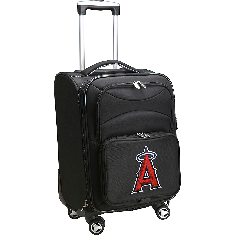 Denco Sports Luggage MLB 20 Domestic Carry-On Spinner Los Angeles Angels - Denco Sports Luggage Softside Carry-On - Luggage, Softside Carry-On
