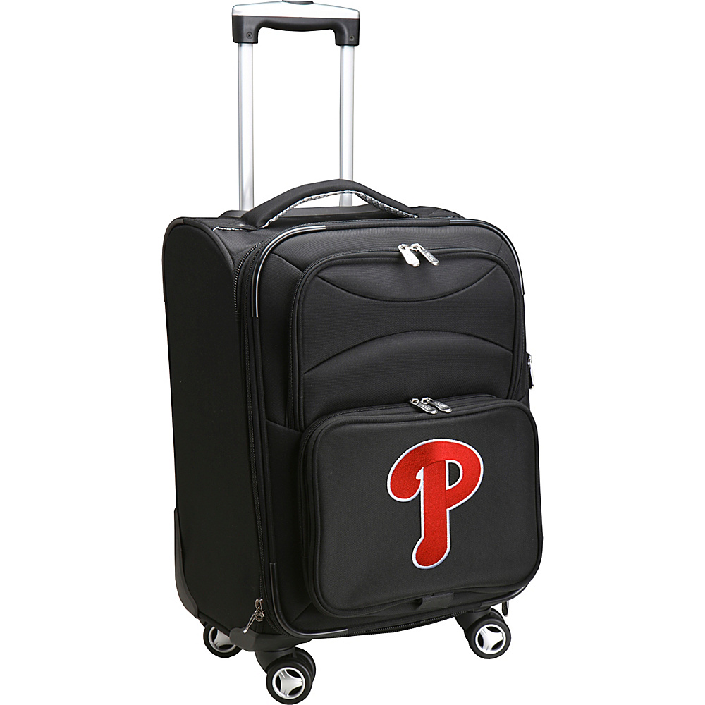 Denco Sports Luggage MLB 20 Domestic Carry-On Spinner Philadelphia Phillies - Denco Sports Luggage Softside Carry-On - Luggage, Softside Carry-On