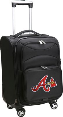 Denco Sports Luggage MLB 20 inch Domestic Carry-On Spinner Atlanta Braves - Denco Sports Luggage Softside Carry-On