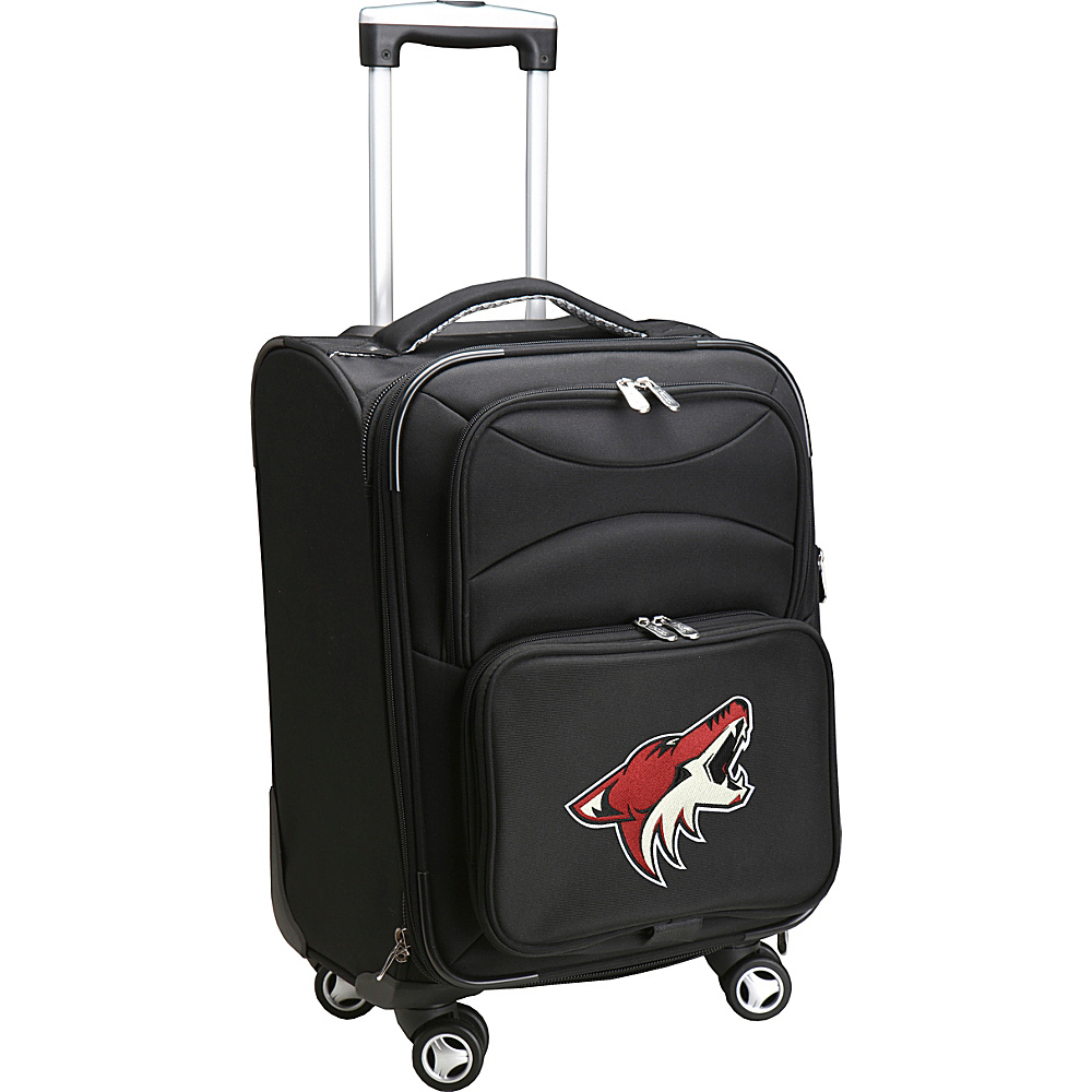 Denco Sports Luggage NHL 20 Domestic Carry On Spinner Phoenix Coyotes Denco Sports Luggage Softside Carry On