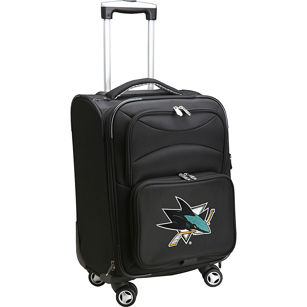 Denco Sports Luggage NHL 20 Domestic Carry-On Spinner San Jose Sharks - Denco Sports Luggage Softside Carry-On - Luggage, Softside Carry-On