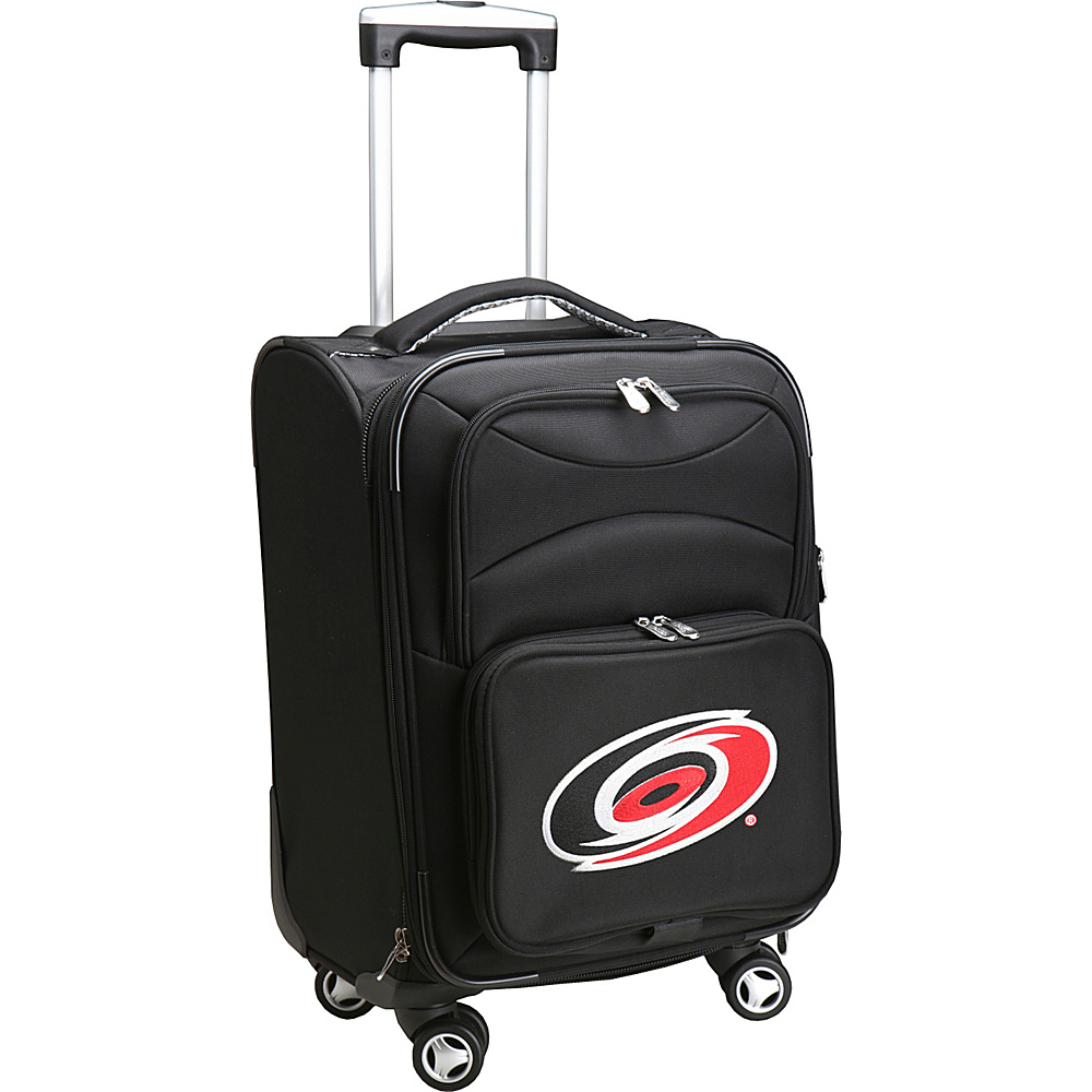 Denco Sports Luggage NHL 20 Domestic Carry-On Spinner Carolina Hurricanes - Denco Sports Luggage Softside Carry-On - Luggage, Softside Carry-On