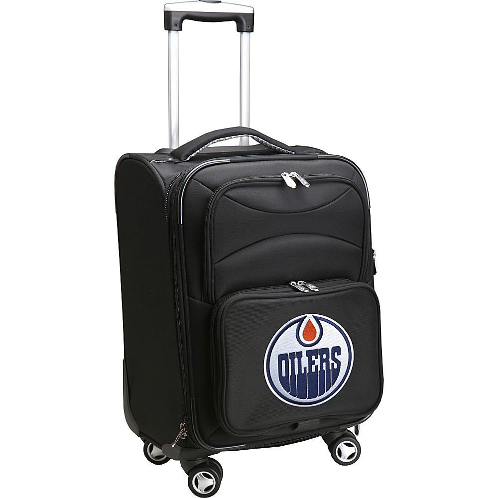 Denco Sports Luggage NHL 20 Domestic Carry-On Spinner Edmonton Oilers - Denco Sports Luggage Softside Carry-On - Luggage, Softside Carry-On