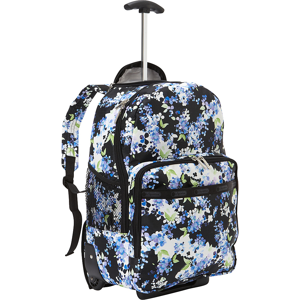 LeSportsac Rolling Backpack Flower Cluster TR - LeSportsac Wheeled Backpacks