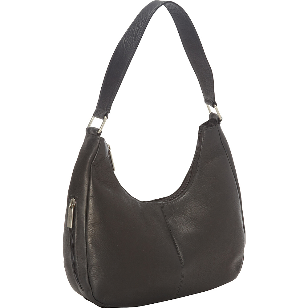 Royce Leather Vaquetta Leather Hobo Bag Black - Royce Leather Leather Handbags