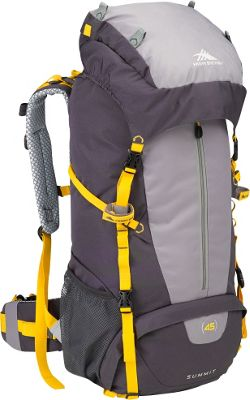 High Sierra Summit 45 Backpacking Pack Mercury/Ash/Yell-O - High Sierra Backpacking Packs