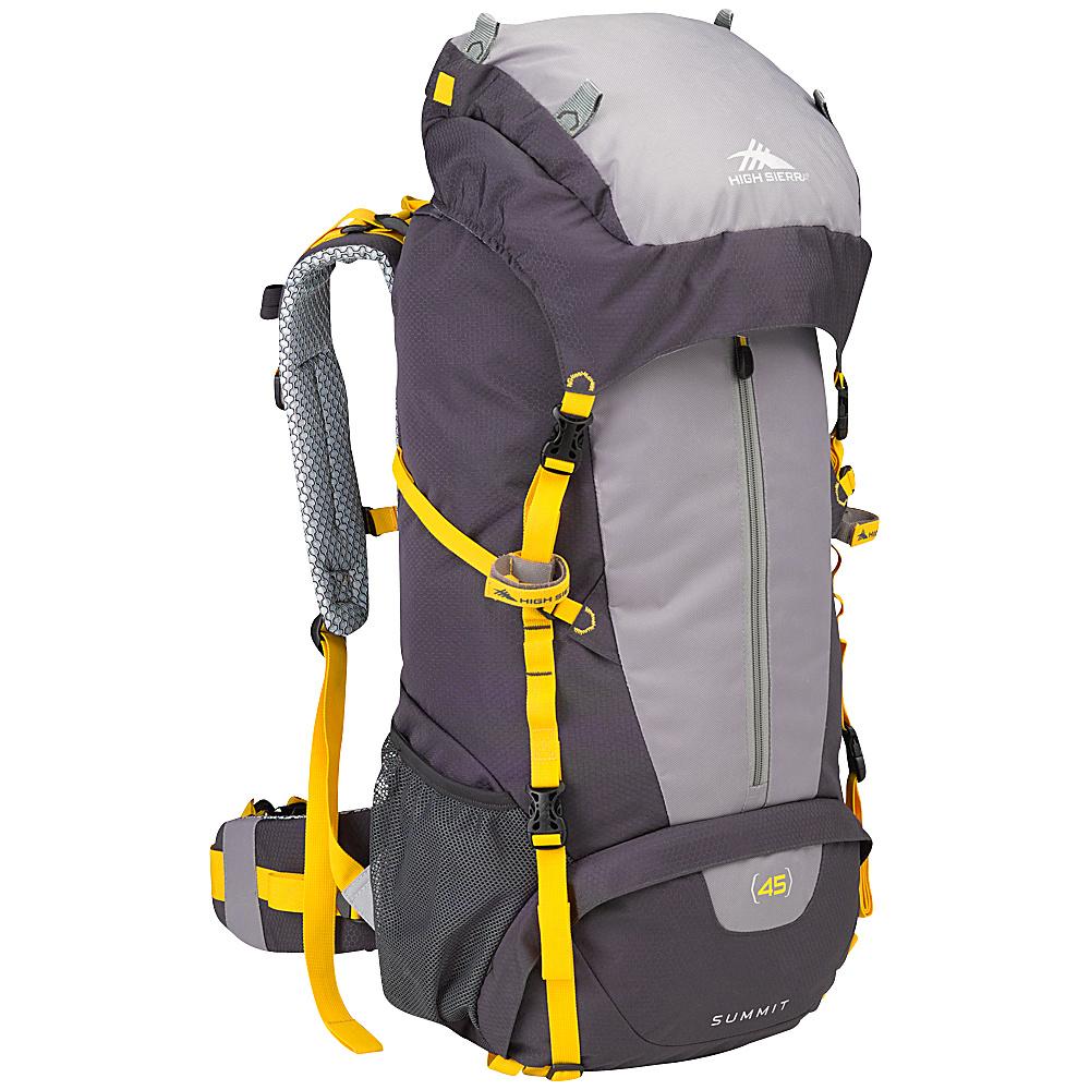 High Sierra Summit 45 Backpacking Pack Mercury Ash Yell O High Sierra Day Hiking Backpacks