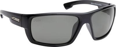 Hobie Eyewear Mojo Sunglasses Shiny Black Frame / Grey Polarized PC Lens - Hobie Eyewear Sunglasses