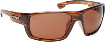 Hobie Eyewear Mojo Sunglasses Shiny Brown Wood Grain Frame / Copper Polarized PC - Hobie Eyewear Sunglasses