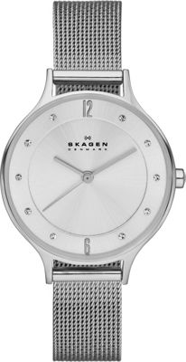 Skagen Klassik Three-Hand Woven Steel Watch Silver - Skagen Watches