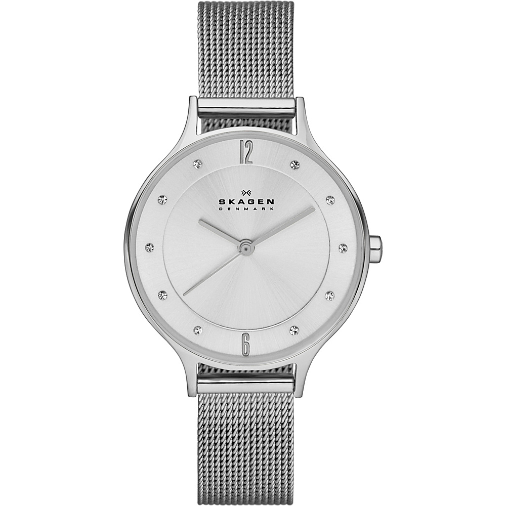 Skagen Klassik Three Hand Woven Steel Watch Silver Skagen Watches